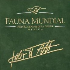 Enciclopedias: FAUNA MUNDIAL. RODRIGUEZ DE LA FUENTE, FELIX. A-ENC-436-SF. Lote 173582558