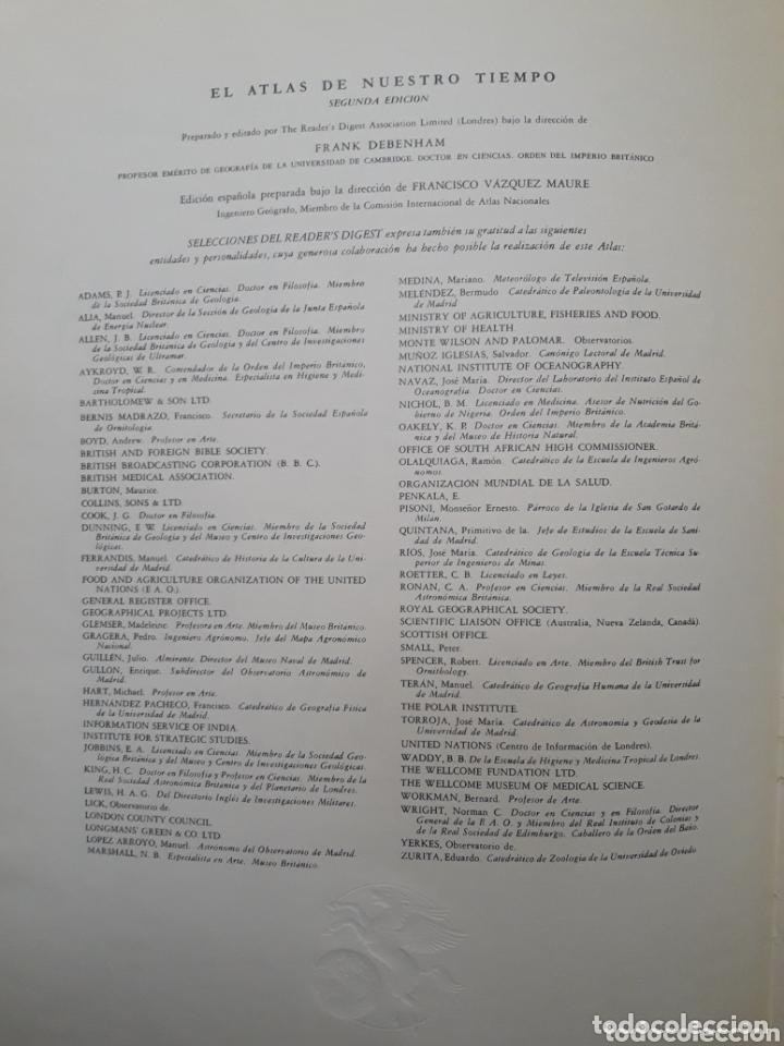 Enciclopedias: EL ATLAS DE NUESTRO TIEMPO - 2° EDICIÓN - SELECCIONES READERS DIGEST - Foto 3 - 173820040
