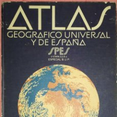 Enciclopedias: ATLAS GEOGRAFIA UNIVERSAL DE ESPAÑA. Lote 184318268