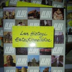 Enciclopedias: LUR HIZTEGI ENTZIKLOPEDIOA...10TOMOS. Lote 187640788