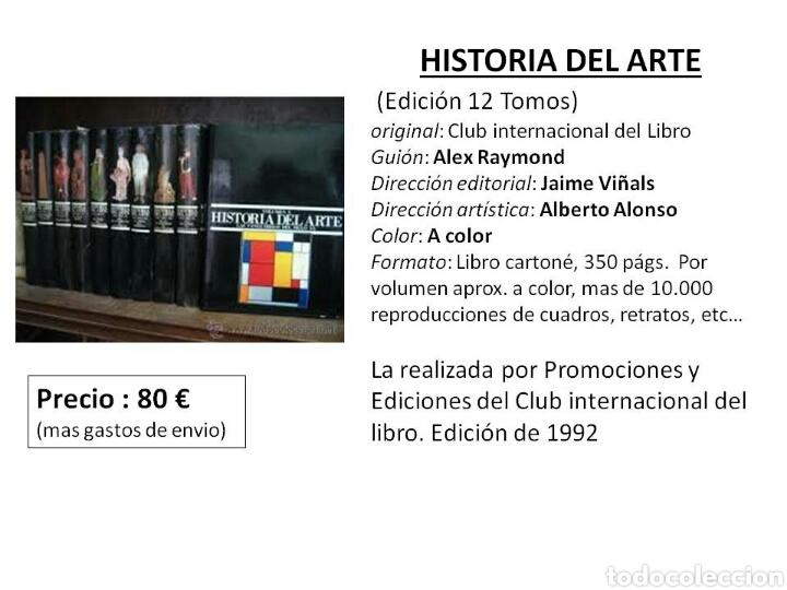 ENCICLOPEDIA DE 12 TOMOS DE HISTORIA DEL ARTE. CLUB INTERNACIONAL DEL LIBRO. AÑO 1992 (Libros Nuevos - Diccionarios y Enciclopedias - Enciclopedias)