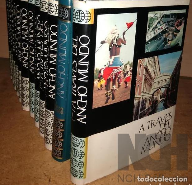 A TRAVES DEL ANCHO MUNDO. 12 TOMOS. EDITORIAL MARÍN. 1967. TAPA DURA 10 + 2 DE LOS AÑOS 1967 A 1969 (Libros Nuevos - Diccionarios y Enciclopedias - Enciclopedias)