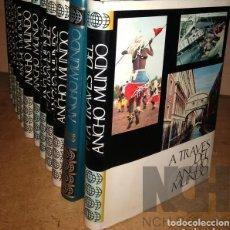 Enciclopedias: A TRAVES DEL ANCHO MUNDO. 12 TOMOS. EDITORIAL MARÍN. 1967. TAPA DURA 10 + 2 DE LOS AÑOS 1967 A 1969. Lote 196218207