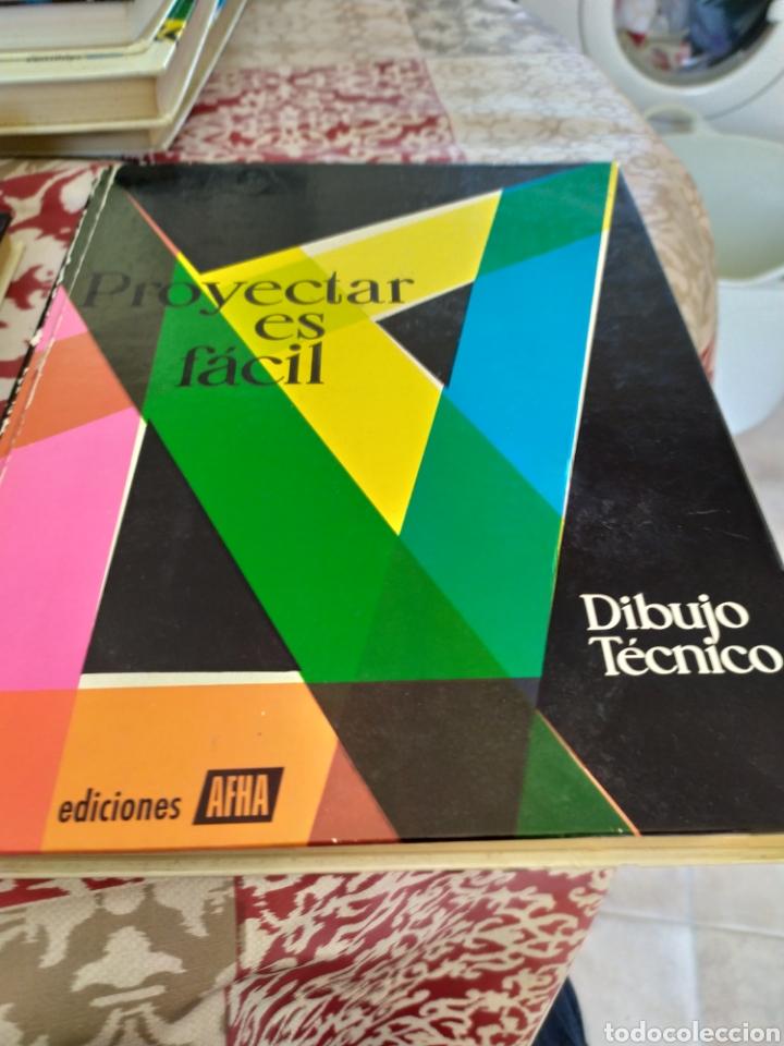 Enciclopedias: Proyectar es facil dibujo tecnico 4 tomos. Una obra maestra para aprender dibujo. - Foto 4 - 196574206