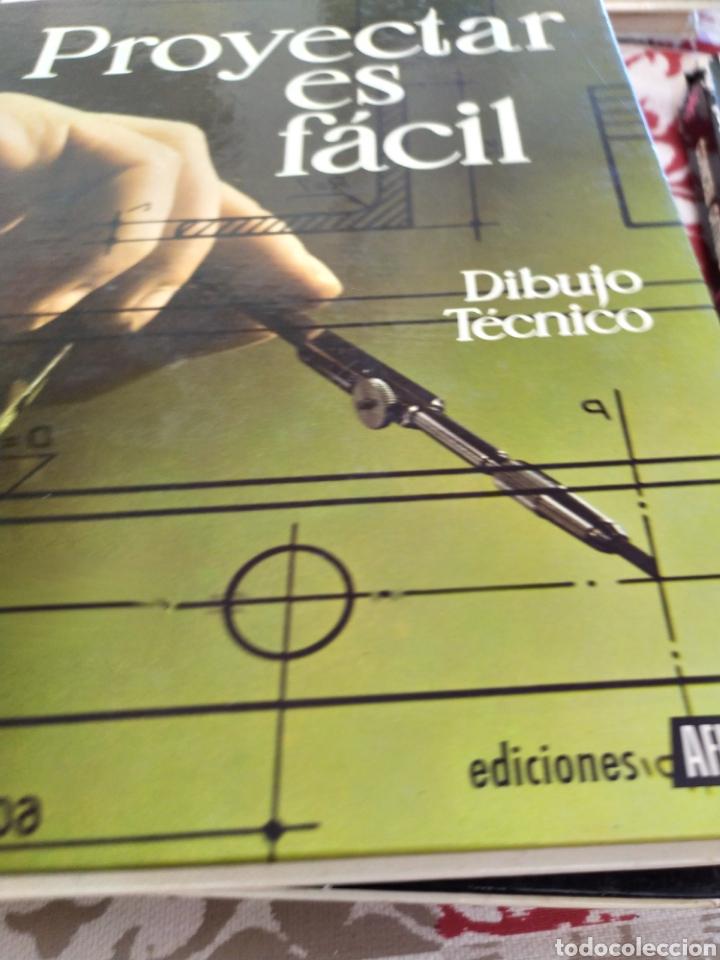 Enciclopedias: Proyectar es facil dibujo tecnico 4 tomos. Una obra maestra para aprender dibujo. - Foto 5 - 196574206
