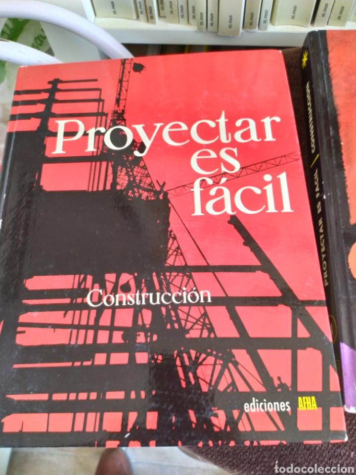 Enciclopedias: Proyectar es facil construccion ediciones afha. - Foto 4 - 196576647