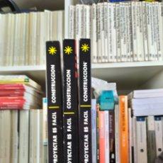 Enciclopedias: PROYECTAR ES FACIL CONSTRUCCION EDICIONES AFHA.. Lote 196576647