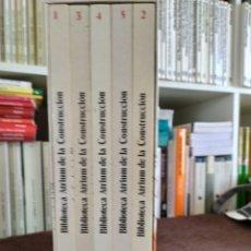 Enciclopedias: ENCICLOPEDIA DE LA CONSTRUCCION. CINCO TOMOS NUEVOS SIN SACAR DE LA CAJA.. Lote 196595695