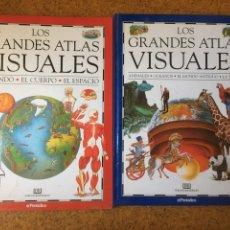 Enciclopedias: LOS GRANDES ATLAS VISUALES. 2 TOMOS. EL PERIODICO. Lote 199183202