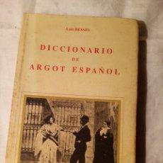 Enciclopedias: DICCIONARIO DE ARGOT ESPAÑOL. Lote 203941906