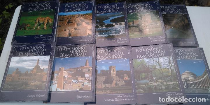 PATRIMONIO MUNDIAL DE LA HUMANIDAD - EDICIONES RUEDA - 9 LIBROS, SIN DESPRECINTAR, A ESTRENAR (Libros Nuevos - Diccionarios y Enciclopedias - Enciclopedias)