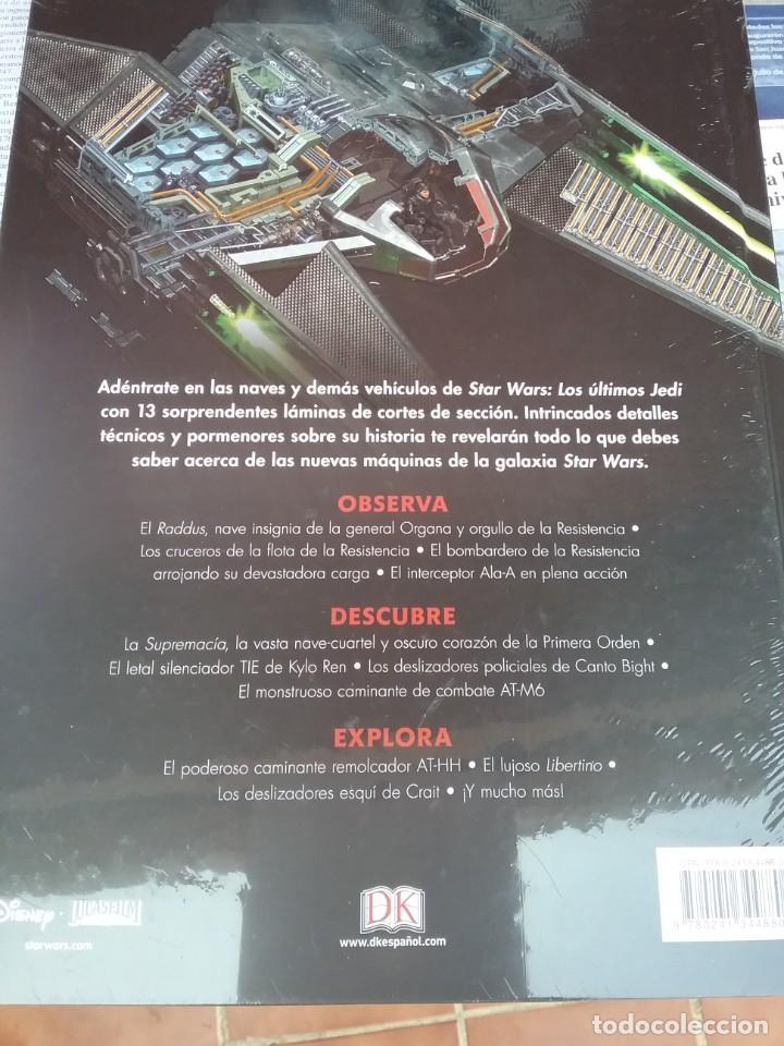 Enciclopedias: STAR WARS LOS ÚLTIMOS JEDI. NAVES Y OTROS VEHÍCULOS EN DETALLE. - Foto 2 - 215927052