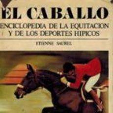 Enciclopedias: EL CABALLO. ENCICLOPEDIA DE LA EQUITACION Y DE LOS DEPORTES HIPICOS ETIENNE SAUREL. Lote 231875780
