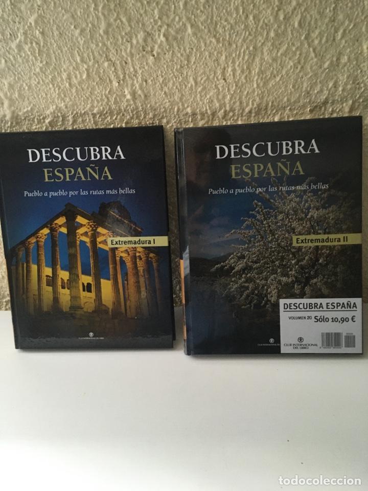 LIBROS DESCUBRA ESPAÑA EXTREMADURA 2 TOMOS (Libros Nuevos - Diccionarios y Enciclopedias - Enciclopedias)