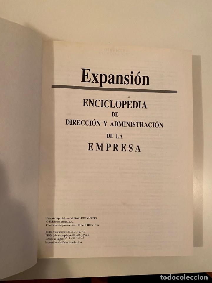 """Enciclopedias: """"ENCICLOPEDIA DE DIRECCIÓN Y ADMINISTRACIÓN DE LA EMPRESA"""" - EXPANSION - Foto 3 - 245375255"""
