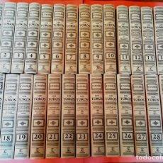 Enciclopedias: COSSIO . LOS TOROS . COMPLETA 30 TOMOS . ESPASA CALPE 2007. Lote 247489300