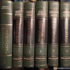 Enciclopedias: LIBROS 6 TOMOS CIENCIAS NATURALES, CURIOSIDADES DEL MUNDO ANIMAL, 1967. Lote 249101735