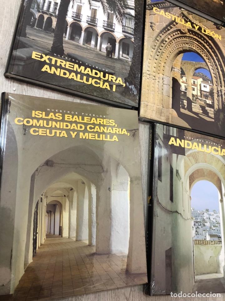 COMPLETA Y PRECINTADA 9 TOMOS NUESTROS PUEBLOS - ED RUEDA ALICANTE ANDALUCIA EXTREMADURA NAVARRA (Libros Nuevos - Diccionarios y Enciclopedias - Enciclopedias)