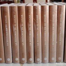 Enciclopedias: LA HISTORIA EN SU LUGAR - ED. PLANETA - 10 TOMOS Y 10 DVDS. Lote 254352395