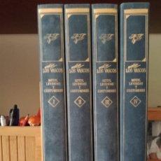 Enciclopedias: NOSOTROS LOS VASCOS. MITOS, LEYENDAS Y COSTUMBRES. 4 TOMOS. Lote 266589048