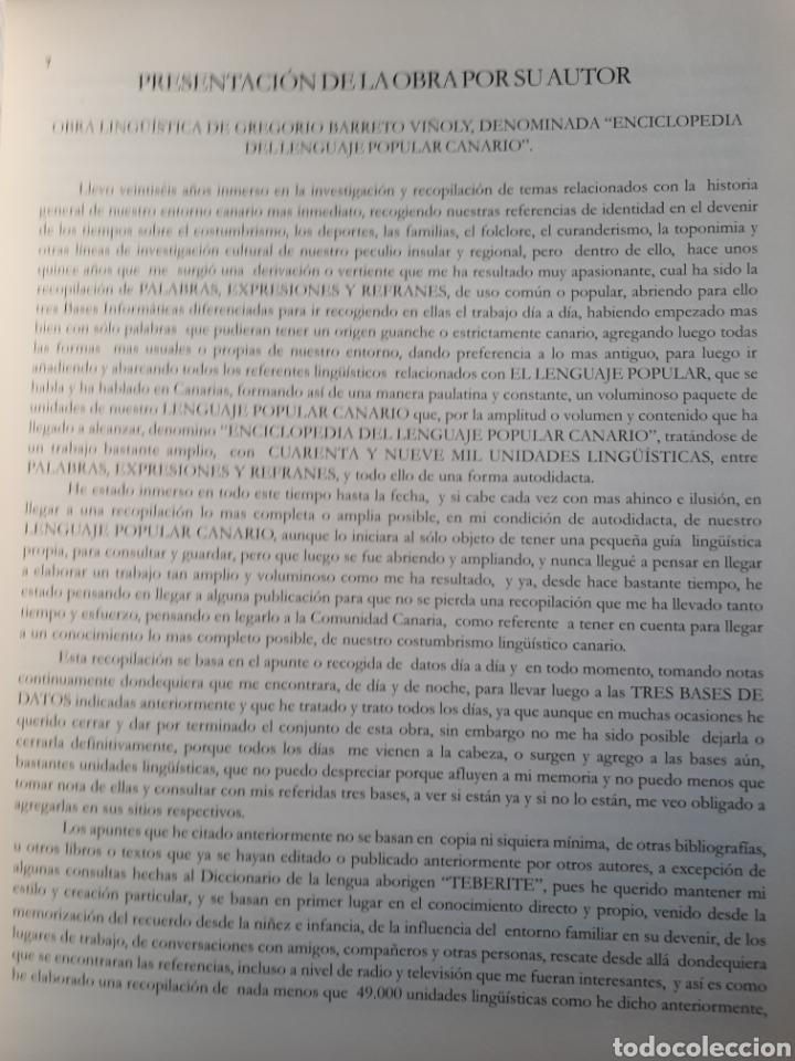 Enciclopedias: Diccionario de expresiones. Enciclopedia del lenguaje popular canario. - Foto 3 - 270236238
