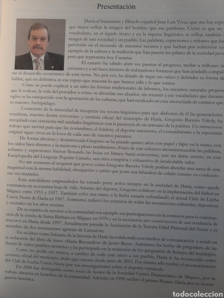 Enciclopedias: Diccionario de expresiones. Enciclopedia del lenguaje popular canario. - Foto 4 - 270236238