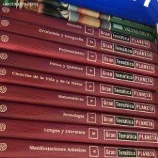 Livros: COMPLETA 11 TOMOS ENCICLOPEDIA GRAN TEMÁTICA PLANETA 2003. Lote 281873783