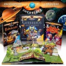 Enciclopedias: PACK INCREÍBLE ENCICLOPEDIA LAROUSSE. 3 LIBROS - VARIOS AUTORES (CARTONÉ) DESCATALOGADO!!! OFERTA!!!. Lote 289699203