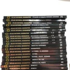 Livros: COMPLETA - ATLAS NATIONAL GEOGRAPHIC - 25 TOMOS - EUROPA - ASIA - AMÉRICA - OCEANIA …. Lote 290162203