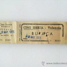 Entradas de Cine : LOTE 100 ENTRADAS CINE, CINE IBERIA, BUTACA, VALENCIA 1 MAYO 1973, TACO 100 ENTRADAS CINE. Lote 37584156