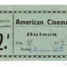 Entradas de Cine : ENTRADA DE CINE, CINES AMERICAN - 1932. Lote 62450164
