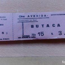 Entradas de Cine : TACO ENTRADAS DEL CINE AVENIDA. BUTACA. MANZANARES. CIUDAD REAL. COMPLETO. Lote 43839185