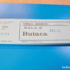 Entradas de Cine : CINE ALMERIA TERRAZA AGUADULCE TALONARIO 100 ENTRADAS. Lote 102298156