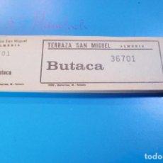 Entradas de Cine : CINE ALMERIA TERRAZA SAN MIGUEL TALONARIO 100 ENTRADAS. Lote 67033246