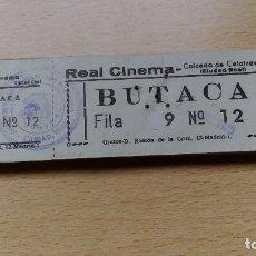 Entradas de Cine : TALONARIO O TACO DE ENTRADAS DE CINE REAL CINEMA CALZADA DE CALATRAVA BUTACA FILA 9 Nº 12 DE 1975 . Lote 70574205