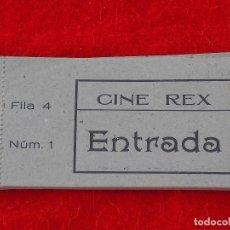 Entradas de Cine : BENICARLÓ.TALONARIO DE 35 ENTRADAS NUMERADAS DEL CINE REX.AÑOS 50.. Lote 103579310