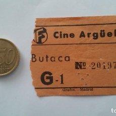 Entradas de Cine : ENTRADA DE CINE ARGÜELLES. AÑOS 50. Lote 80285337