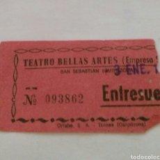 Entradas de Cine : ENTRADA TEATRO BELLAS ARTES TOLOSA. AÑOS 70. Lote 85196598