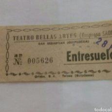 Entradas de Cine : ENTRADA TEATRO BELLAS ARTES TOLOSA AÑOS 70. Lote 85208254
