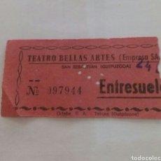 Entradas de Cine : ENTRADA TEATRO BELLAS ARTES. TOLOSA. AÑOS 70. Lote 85208720