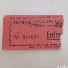 Entradas de Cine : ENTRADA TEATRO BELLAS ARTES. TOLOSA. AÑOS 70. Lote 85209055