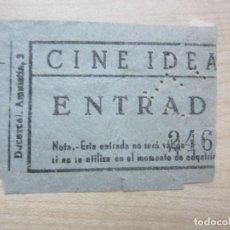 Entradas de Cine : ENTRADA DEL CINE IDEAL DE MADRID DE LOS AÑOS 40. Lote 90271588