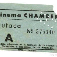 Entradas de Cine : ENTRADA DE CINE CINEMA CHAMBERI AÑOS 50. Lote 91355080