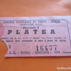 Entradas de Cine : ENTRADA CINE CINEMA FONTANA DI TREVI ROMA. Lote 92293075