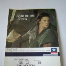 Entradas de Cine : ENTRADA CINE KINEPOLIS - LORD OF THE RING. Lote 95460848