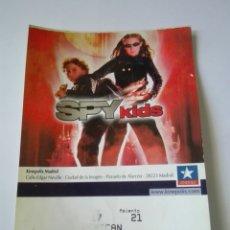 Entradas de Cine : ENTRADA CINE KINEPOLIS - SPY KIDS. Lote 95461010