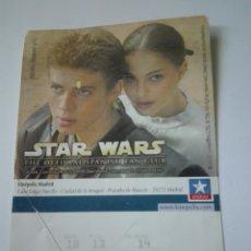 Entradas de Cine : ENTRADA CINE KINEPOLIS - STAR WARS. Lote 95461108