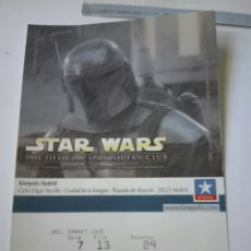 Entradas de Cine : ENTRADA CINE KINEPOLIS - STAR WARS. Lote 95461222