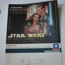 Entradas de Cine : ENTRADA CINE KINEPOLIS - STAR WARS. Lote 95461610