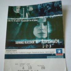 Entradas de Cine : ENTRADA CINE KINEPOLIS - ASESINATO 1 2 3. Lote 95461890